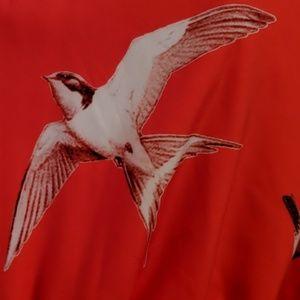 eshakti Dresses - Eshakti dress 18/20 red bird pattern plus size